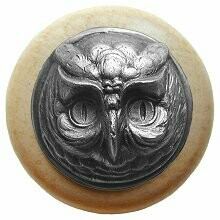Notting Hill Cabinet Knob Wise Owl/Natural Antique Pewter 1-1/2