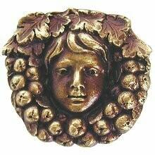 Notting Hill Cabinet Knob Fruit of the Vine Antique Brass 1-3/8