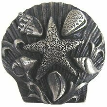 Notting Hill Cabinet Knob Seaside Collage Antique Pewter 1-5/16