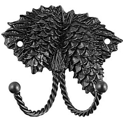 Sierra Lifestyles / Big Sky Cabinet Hardware Decorative Hook - Pinecone - Black