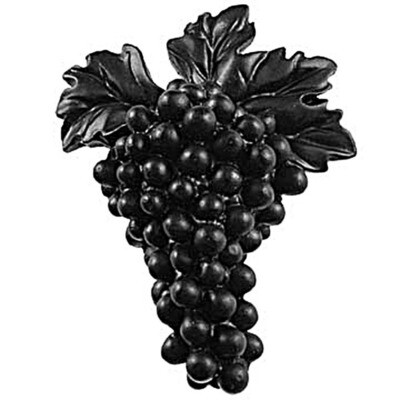 Sierra Lifestyles / Big Sky Cabinet Hardware Grapes Knob - Black