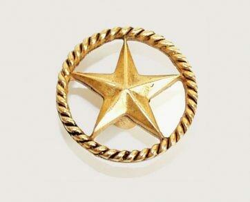 Emenee Decorative Cabinet Hardware Star in Circle 1-3/4