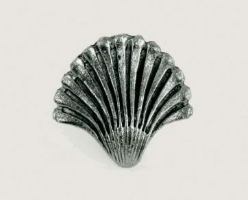 Emenee Decorative Cabinet Hardware Seashell Fan 1-1/4