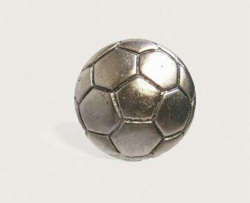 Emenee Decorative Cabinet Hardware Soccer Ball 1-1/2
