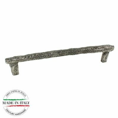 Century Cabinet Hardware Puglia - 224 mm Pull in Natural Brittannium metal with 2 M4 screws