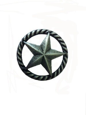 Buck Snort Lodge Decorative Hardware Cabinet Knobs and Pulls 3-D Star with Narrow Rope