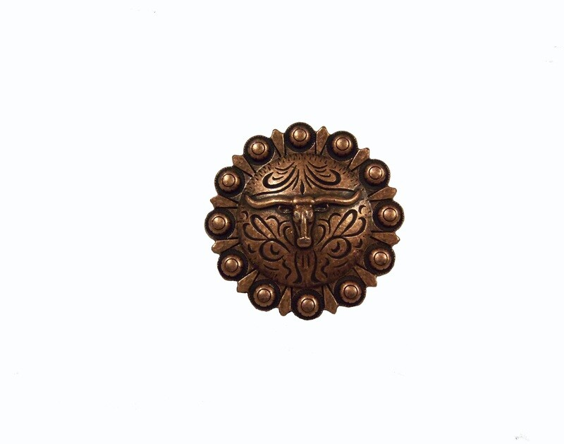 Buck Snort Lodge Decorative Hardware Cabinet Knobs and Pulls Steer in Round
