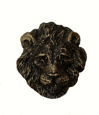 Buck Snort Lodge Hardware Lion HeadCabinet Knob