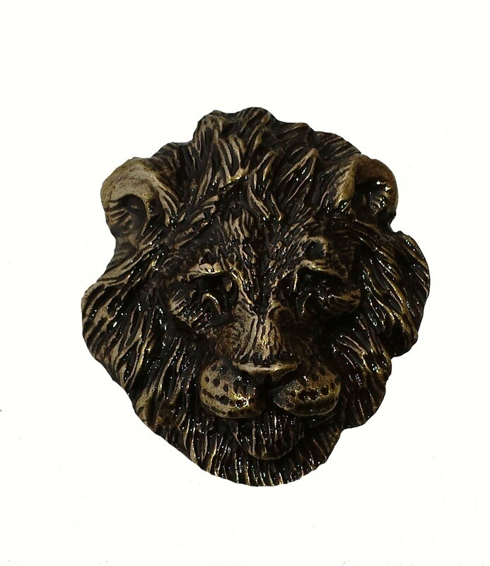 Buck Snort Lodge Hardware Lion Head Cabinet Knob