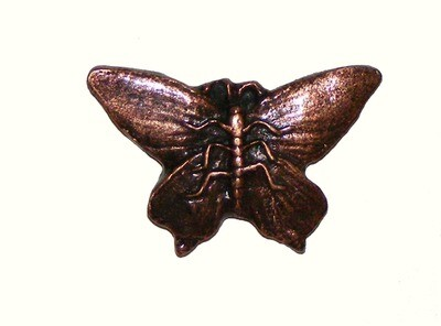 Buck Snort Lodge Decorative Hardware Cabinet Knobs and Pulls Realistic Butterfly