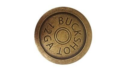 Buck Snort Lodge Hardware Cabinet Knob Shotgun Shell Coaster Antique Brass ONLY