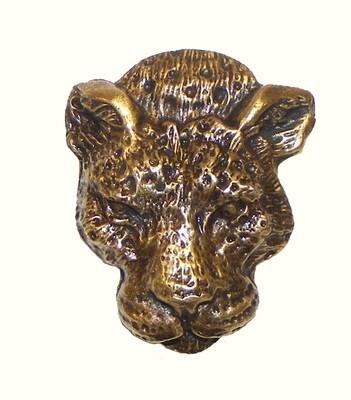 Buck Snort Lodge Decorative Hardware Cabinet Knob Leopard Head