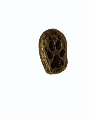 Buck Snort Lodge Cabinet Knob Single Wolf Track Facing Right