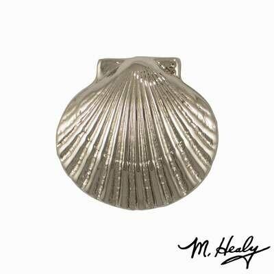 Michael Healy Designs Bay Scallop Doorbell Ringer Nickel Silver