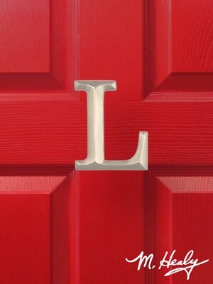 Michael Healy Designs Letter L Door Knocker - Brushed Nickel