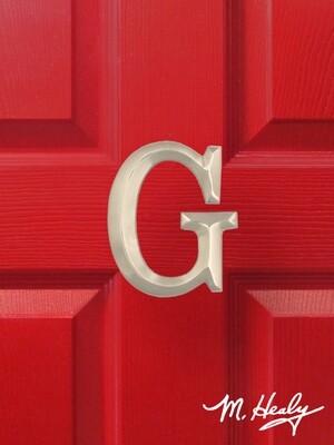 Michael Healy Designs Letter G Door Knocker - Brushed Nickel