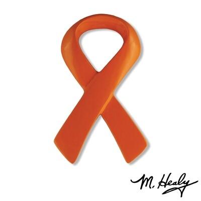 Michael Healy Designs Orange Ribbon   Doorbell Ringer Orange