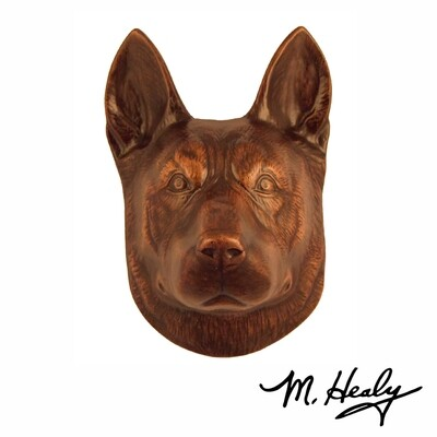 Michael Healy Designs German Shepherd Door Knocker Oiled Bronze