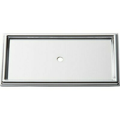 ATLAS HOMEWARES CABINET HARDWARE CAMPAIGN ROPE BACKPLATE  CHROME