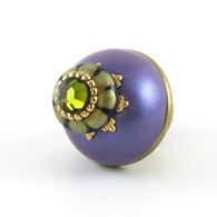 Susan Goldstick Nu Iris Periwinkle Purple 1.5 inch Cabinet Knob