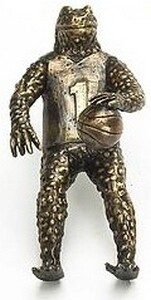 Symphony Designs Decorative Hardware Basketball Frog Pull in Aged Dover