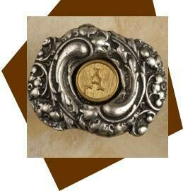 Anne At Home Fancy Initial Cabinet Knob-oval