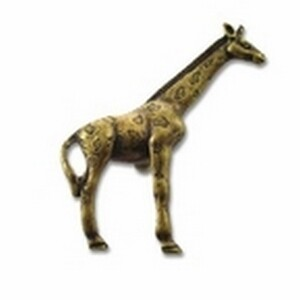 Big Sky Hardware-Animal Giraffe Cabinet Knob Antique Brass
