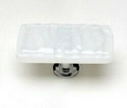Sietto Glass Rectangular Cabinet Knobs Glacier White