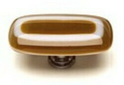 Sietto Glass Rectangular  Cabinet Knobs Luster Umber Brown