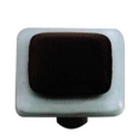 Hot Knobs Glass Cabinet Knob Powder Blue Border Collection Black