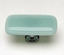 Sietto Glass Rectangular Cabinet Knobs Intrinsic Light Aqua