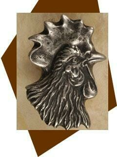 Anne At Home Rooster Head Cabinet Knob - Right