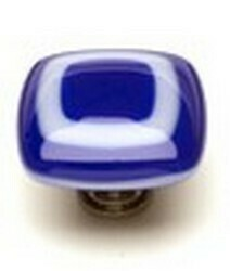 Sietto Glass Cabinet Knobs Luster  Cobalt