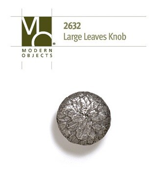 Modern Objects Designer Hardware Tree Leaves Cabinet Knob Large