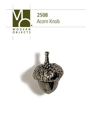 Modern Objects Designer Hardware Acorn Cabinet Knob