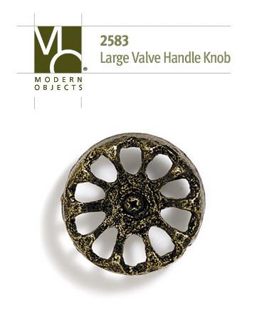 Modern Objects Designer Hardware Large Industrial Valve Handle Cabinet Knob