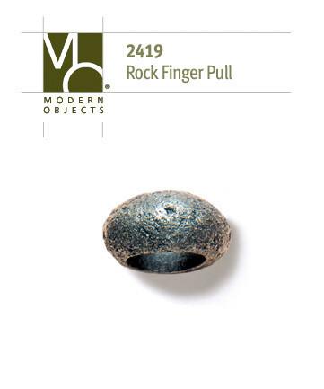Modern Objects Designer Hardware Rock Finger Cabinet Pull