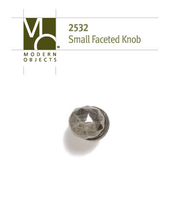 Modern Objects Designer HardwareIndustrial Small Faceted Cabinet Knob