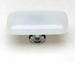 Sietto Glass Rectangular  Cabinet  Knobs  White