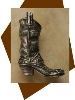 Anne At Home Cowboy Boot Cabinet Knob-Small-Right