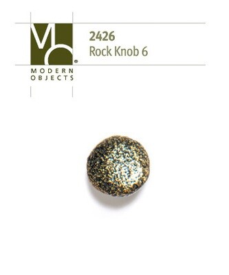 Modern Objects Designer Hardware Rock 6 Cabinet Knob