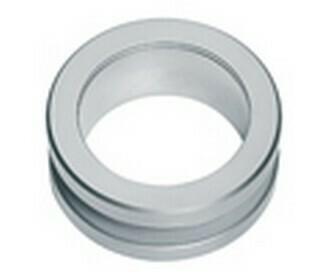 Hafele Cabinet Hardware, Flush Handle, stainless steel, matt, 10mm