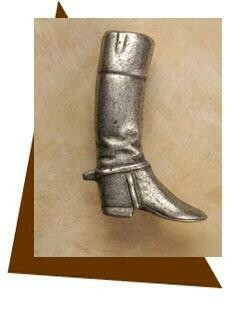 Anne at Home Riding Boot Cabinet Knob-Right