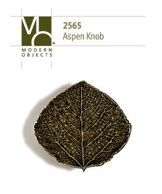 Modern Objects Designer Hardware Aspen Leaf Cabinet Knob