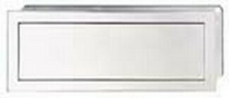 HHafele Cabinet Hardware, Mortise Pull, zinc, polished chrome, 154 x 56mm