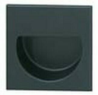 Hafele Cabinet Hardware, Mortise Pull, brass, black matt,57 x 57mm