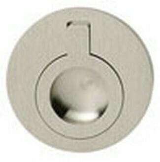 Hafele Cabinet Hardware, Handle, brass, nickel brushed, center to center 50mm
