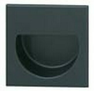 Hafele Cabinet Hardware, Mortise Pull, brass, black matt,47 x 47mm