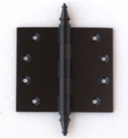 Deco & Deco Decorative Steeple Tip Door Hinges 4-1/2