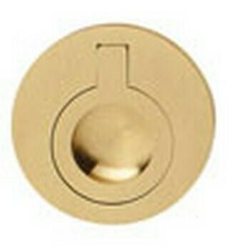 Hafele Cabinet Hardware, Handle, brass, matt, center to center 50mm